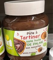 pate à tartiner sans huile de palmes aux noisettes - Product - fr