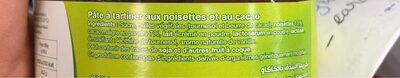 pate à tartiner sans huile de palmes aux noisettes - Ingrediënten - fr