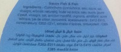 Sauce Fish & fish - Ingrédients