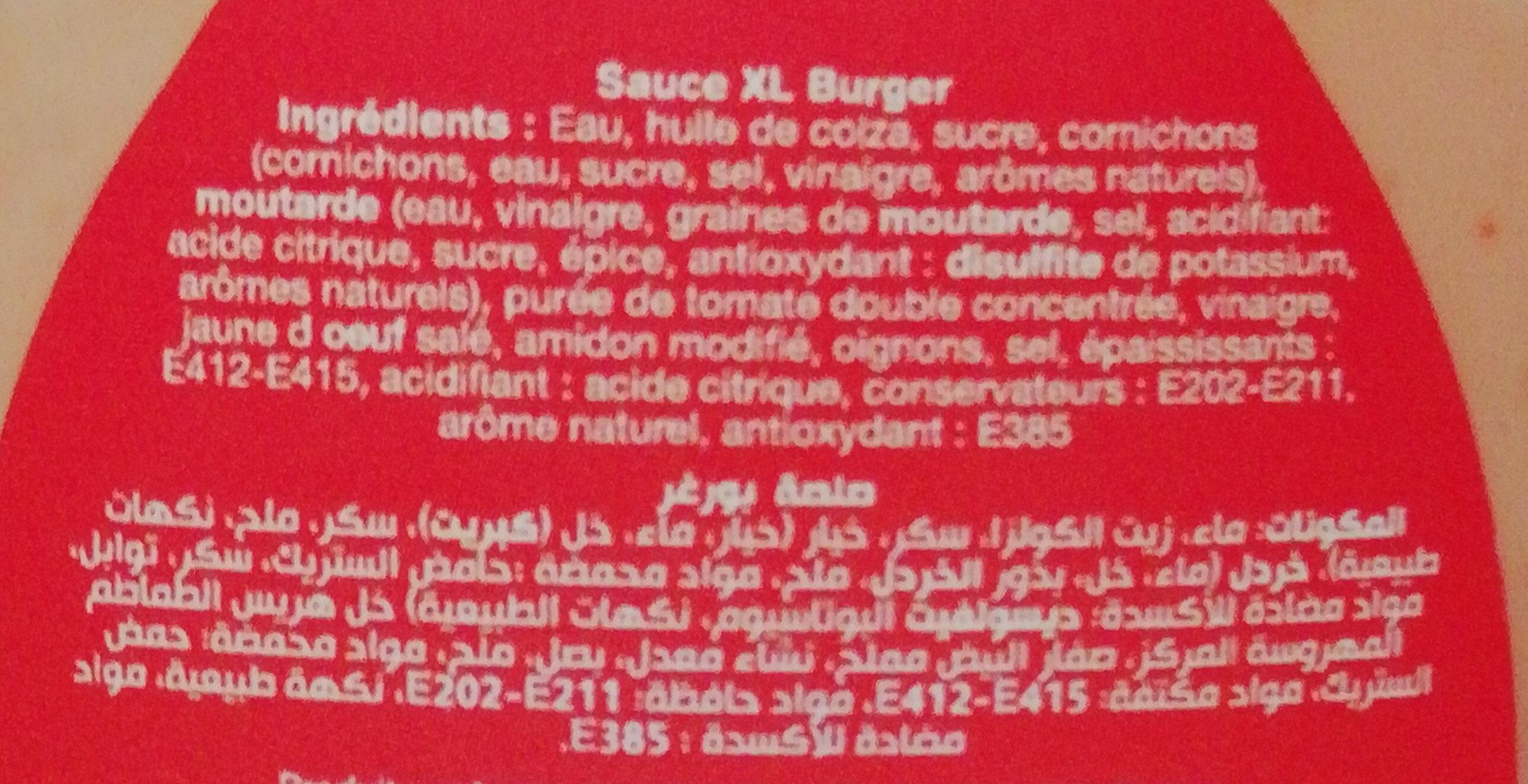 Sauce xl burger - Ingredients - fr