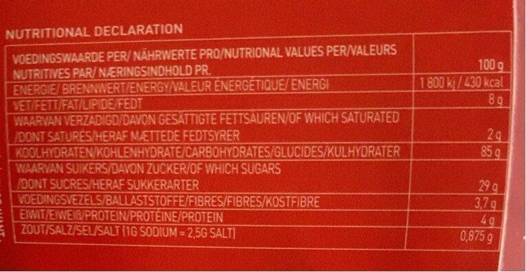 Soho - Informations nutritionnelles - fr