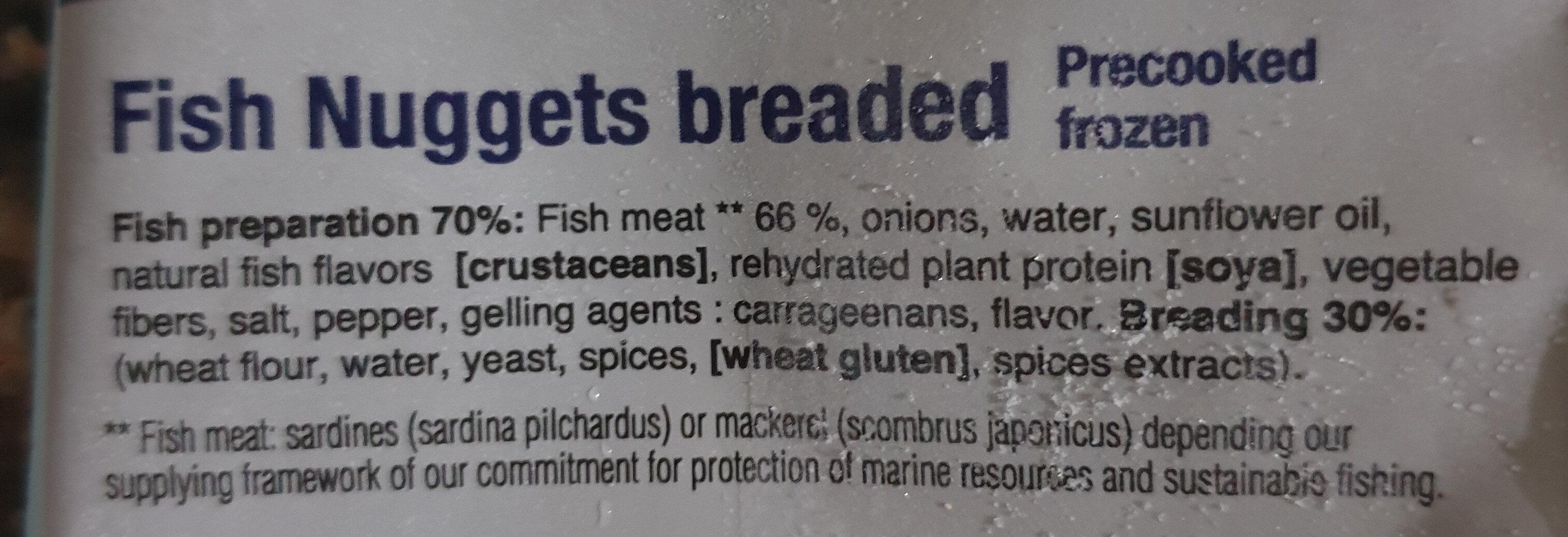 Nuggets de poisson panés - Ingrediënten - fr