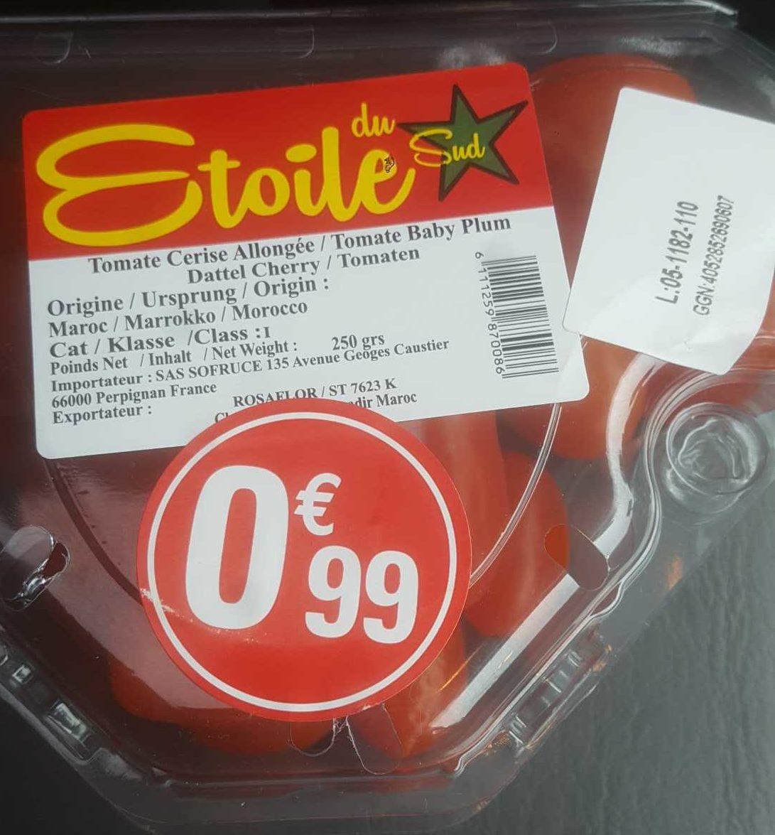 Tomates Cerises étoile Du Sud 250 G