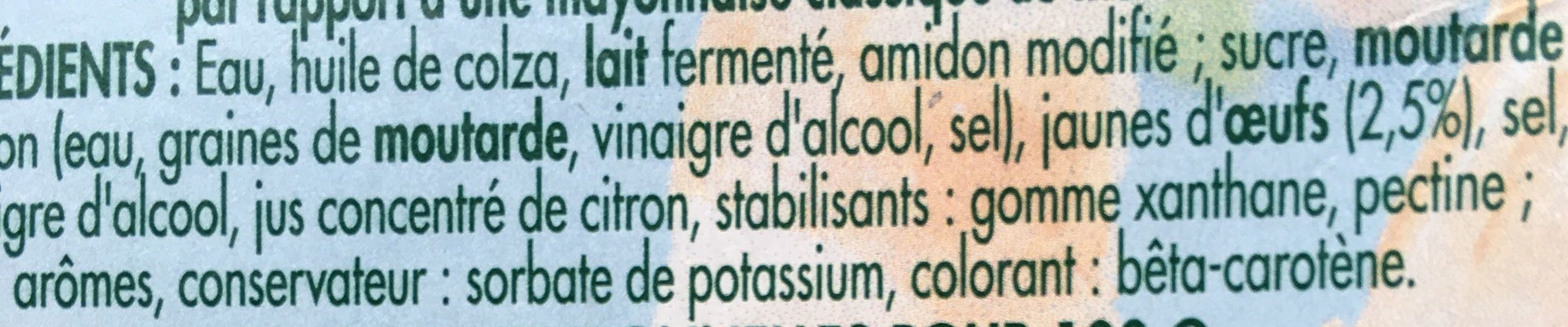Mayonnaise légère - Ingredienti - fr