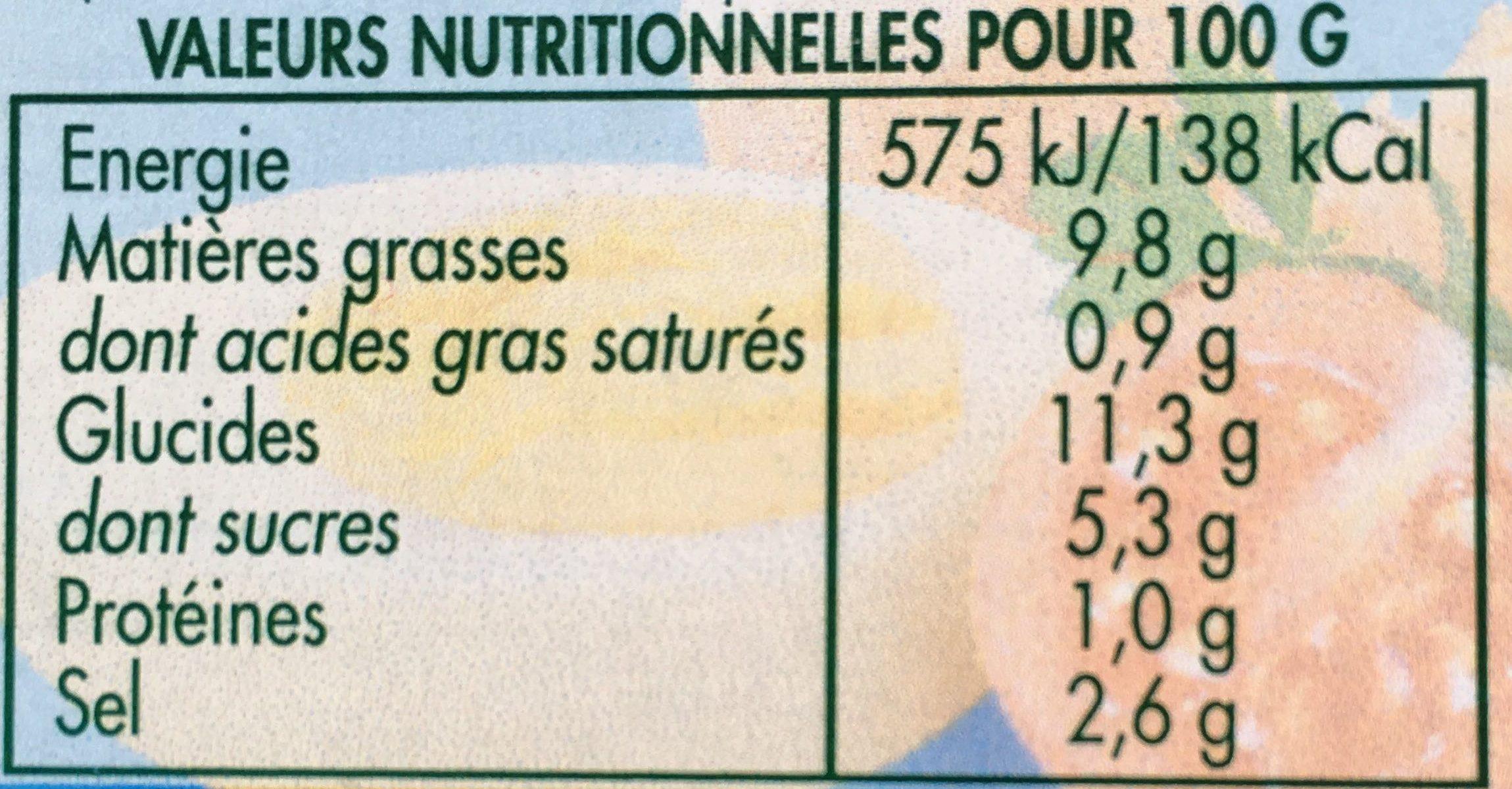 Mayonnaise légère - Valori nutrizionali - fr
