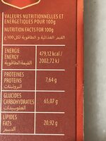 Ambassadeur fourré - Nutrition facts - fr