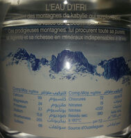 ifri Eau minérale naturelle إفري - المكونات - fr