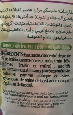 iFruit - Ingrediënten
