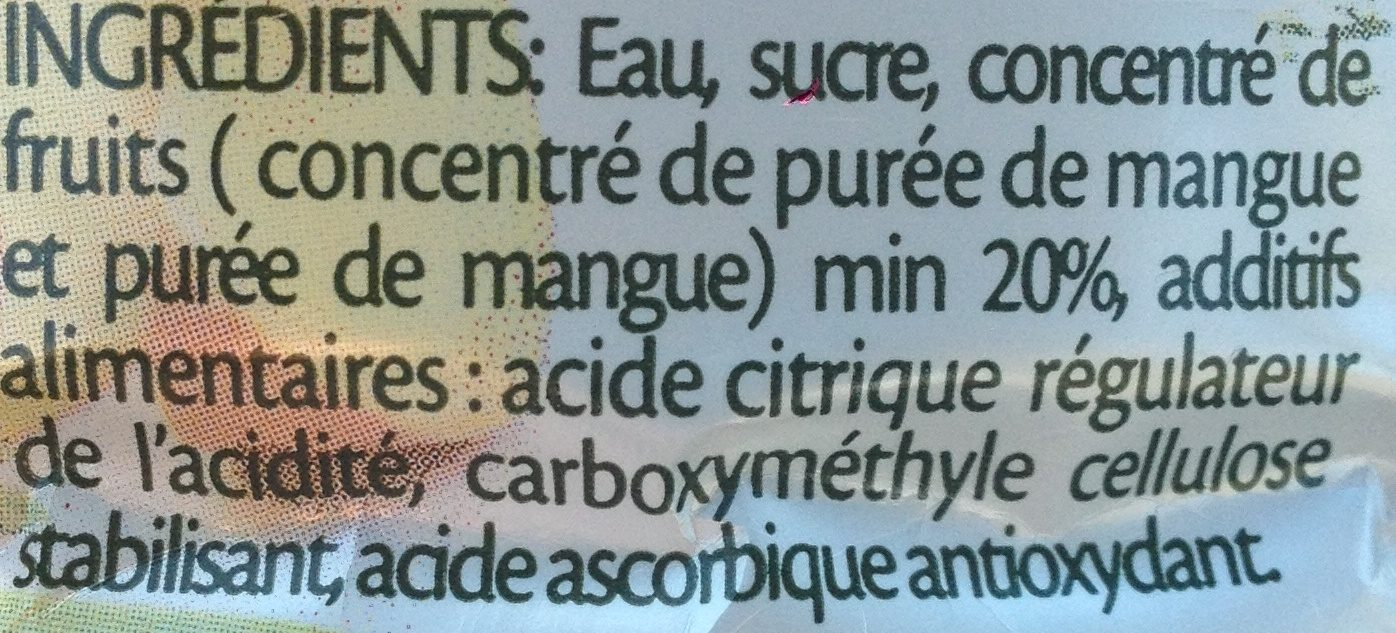 Ifruit jus de mangue - Ingrédients - fr