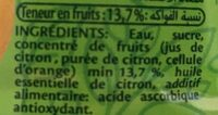 Citronade ifruit - Ingredients - en