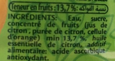 Citronade ifruit - Ingredients