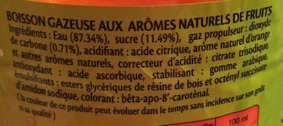 Premium Soda Orange - Ingrédients - fr