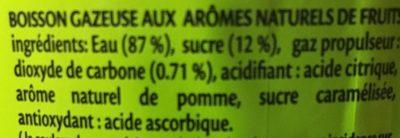 Ifrisoda - Boisson gazeuse aux arômes naturels de fruits - المكونات - fr