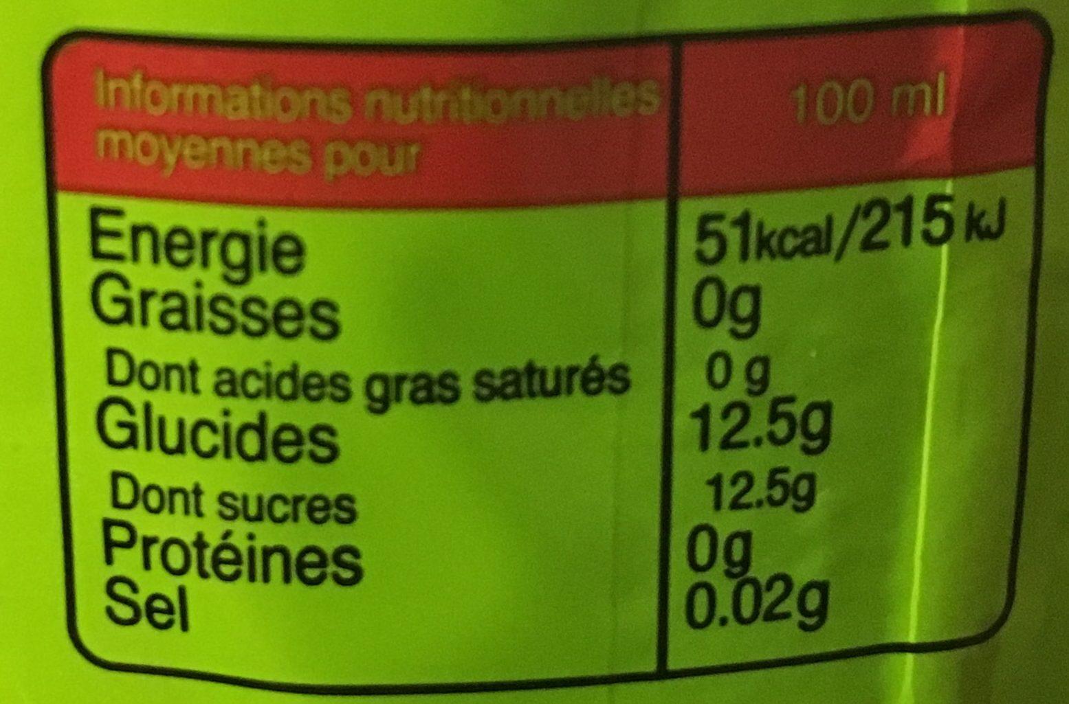 Ifrisoda - Boisson gazeuse aux arômes naturels de fruits - حقائق غذائية - fr