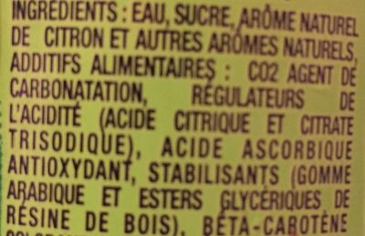 Ifri arômes naturels - Ingrédients
