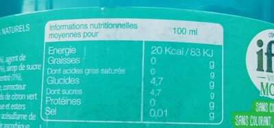 L'original Ifri Virgin mojito - Informations nutritionnelles - fr