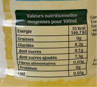 Ifruit Citronnade - حقائق غذائية - fr