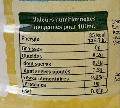 Ifruit Citronnade - حقائق غذائية