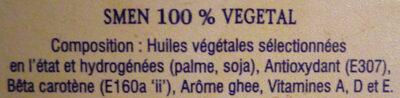 Medina 100% végétal - المكونات - fr