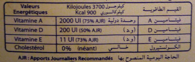 Medina 100% végétal - حقائق غذائية - fr