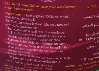 Huile - Voedingswaarden - fr