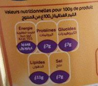 Moutarde de Dijon - حقائق غذائية - fr