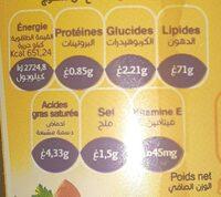 Mayonnaise fleurial - حقائق غذائية - fr