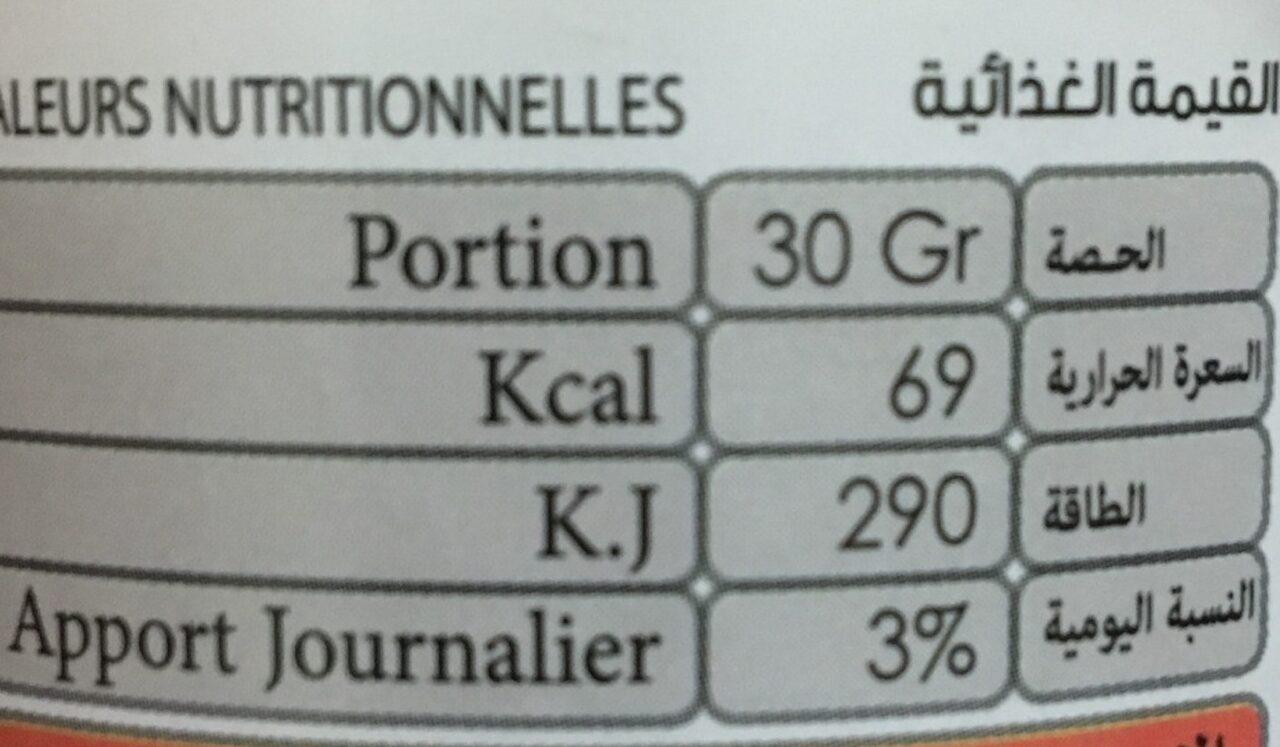 Confiture d'orange - Nutrition facts