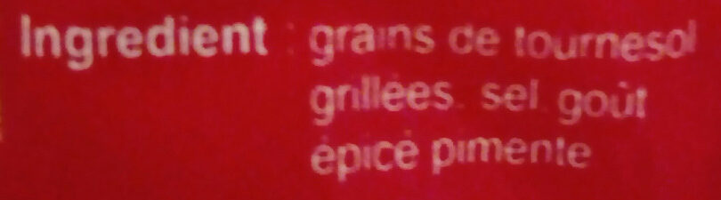 Grains de tournesol Mexicaine - المكونات - fr