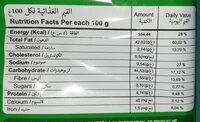 Chips mahboul - حقائق غذائية - en