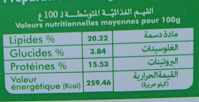 Cheezy Cuisto - Nutrition facts - fr