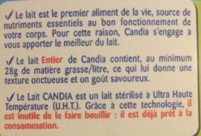 Le lait entier - المكونات - fr