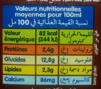 Lait au Chocolat (Entier) - Nutrition facts - fr