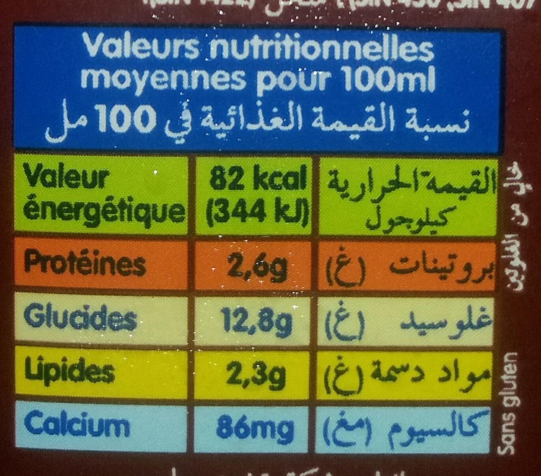 Lait au Chocolat (Entier) - Voedingswaarden