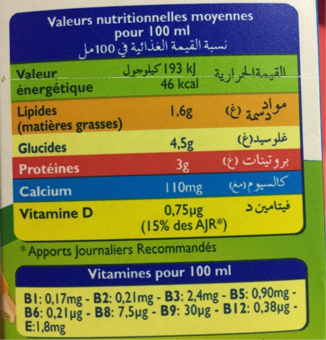 Lait candia viva - Informations nutritionnelles - fr