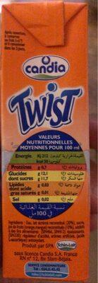 Twist - Informations nutritionnelles - fr