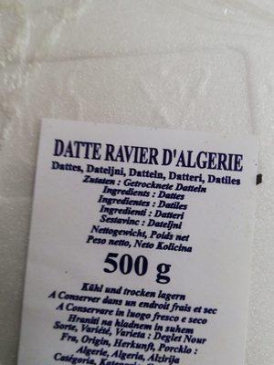 Dattes d'Algérie - المكونات - fr