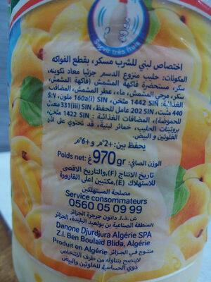 Trefle Yog et Fruits Abricot - Ingrédients - fr