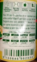 Activia saveurs vanille - حقائق غذائية - fr