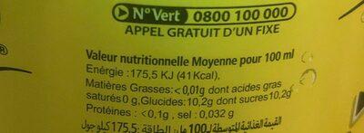 Hamoud Boualem La gazouz blanche - حقائق غذائية - fr