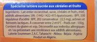 Céréalo - المكونات - fr
