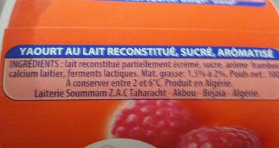 Soummam Fort - حقائق غذائية - fr