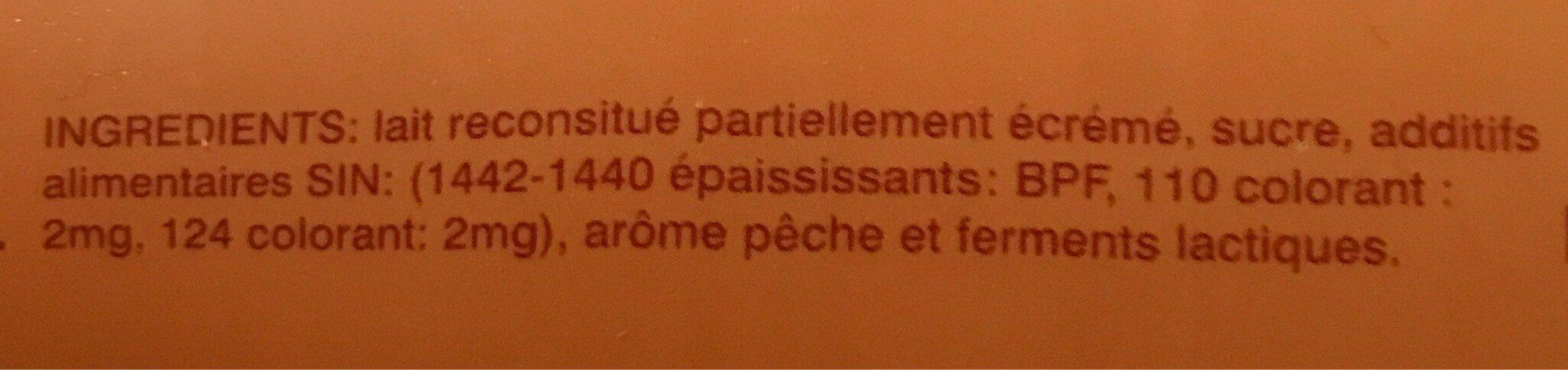 Yaourt liquide peche - المكونات - fr