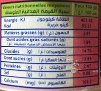 Mamzoudj - حقائق غذائية - fr