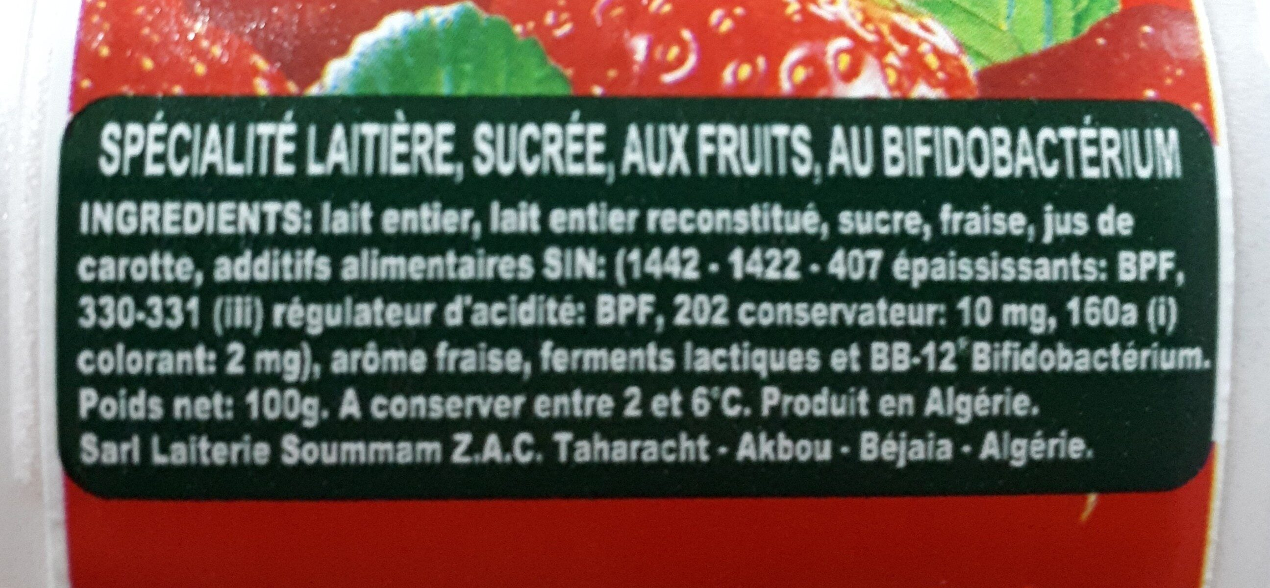 Acti + fraise - المكونات - fr