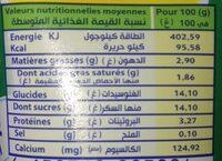 Acti+ - حقائق غذائية - fr