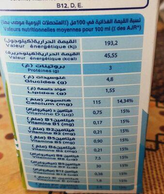 Vitamilk - حقائق غذائية - en