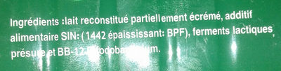 Raib au bifidus actif - المكونات - ar