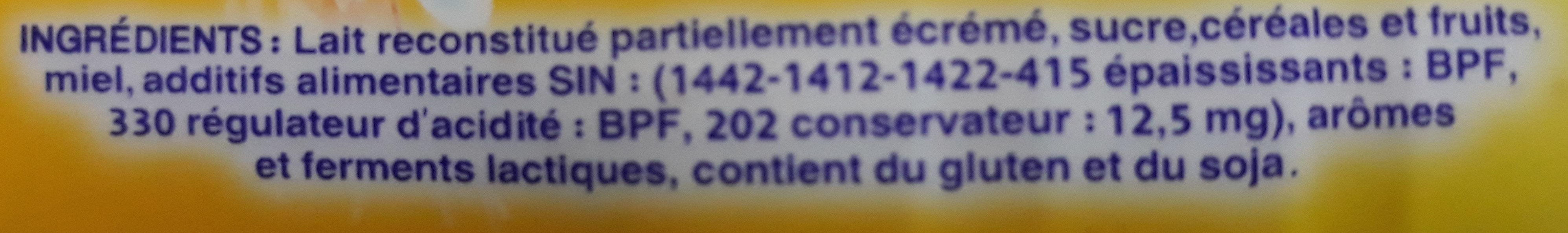 Cerealo - المكونات - fr