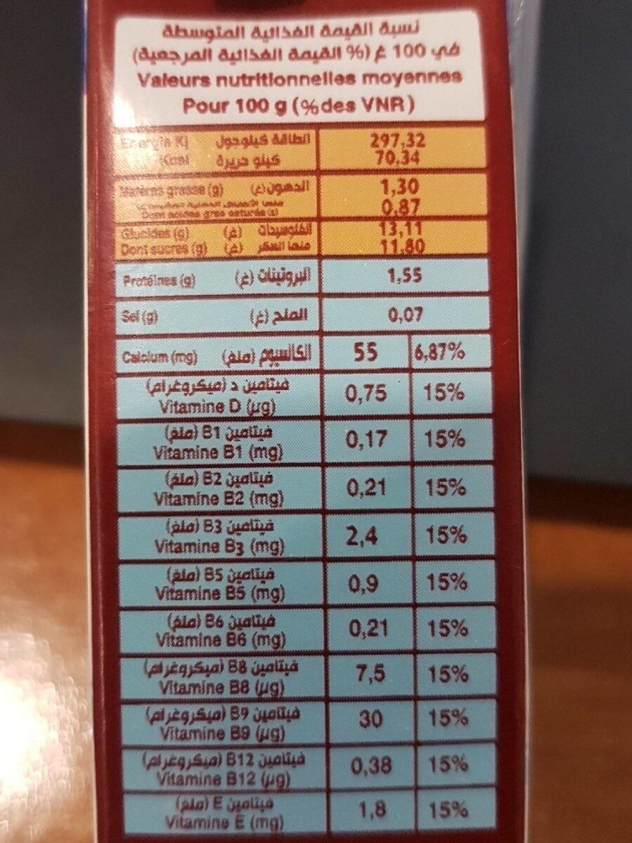 Soummam Dialna - حقائق غذائية - fr